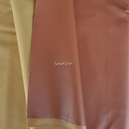 FAUX LEATHER SEPIA BROWN COLOR