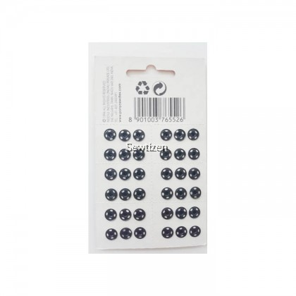 9MM PONY SNAP BUTTON BLACK