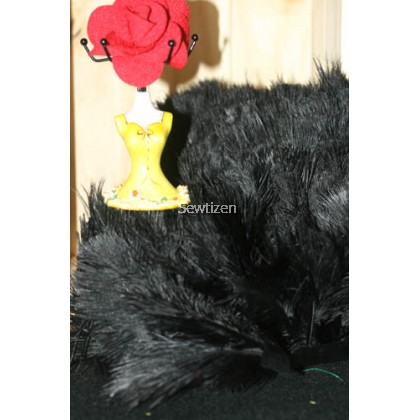 Black Ostrich Mini Feather (5 pcs) Wedding-Dress-Decoration