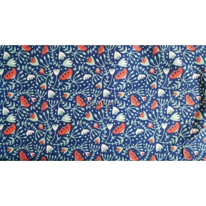 USA Fabric Retro Morocco Finger Floral