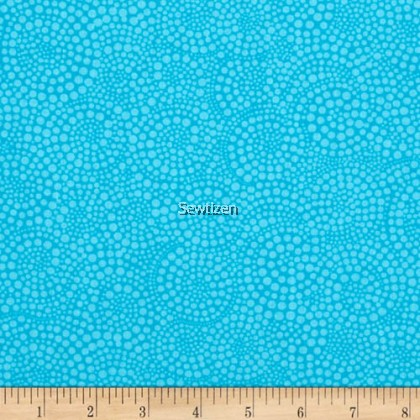 POP BASIC CIRCLE DOTS TURQUOISE FROM TIMELESS TREASURE