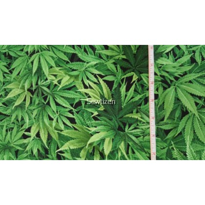 CANNABIS LEAF GREEN  FROM TIMELESS TREASURE