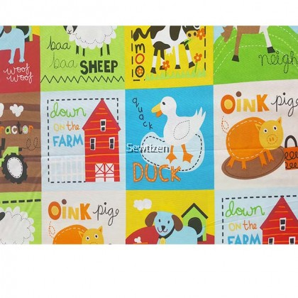DOWN AT THE FARM PANEL FABRIC